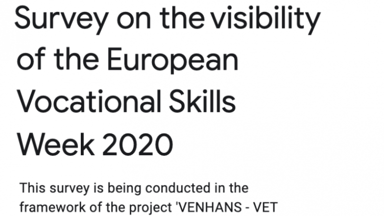 VENHANS – Survey on the visibility of the European Vocational Skills Week 2020
